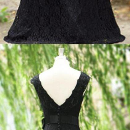 Exquisite Mermaid Black Lace Prom D..