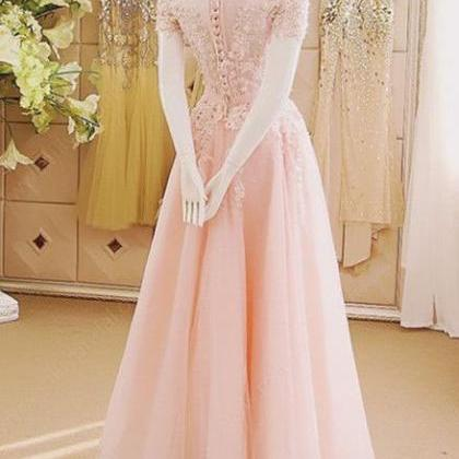 Appliques Prom Dress,Long Prom Dres..