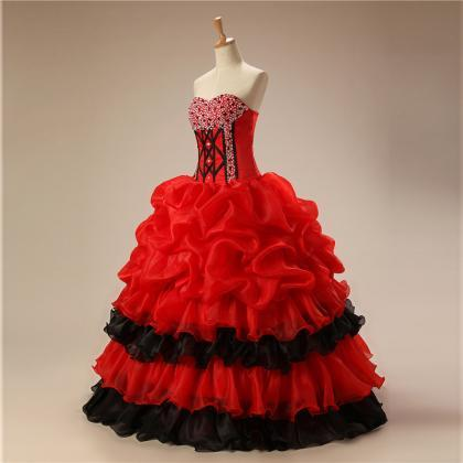 Red Quinceanera Dresses,Sweetheart ..