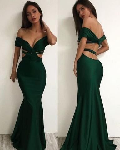 Off the shoulder Prom Dresses,Charming Prom Dress,Long Prom Dresses,Mermaid Prom Dresses,Sexy Evening Dress,Green Prom Gowns,Formal Women Dress