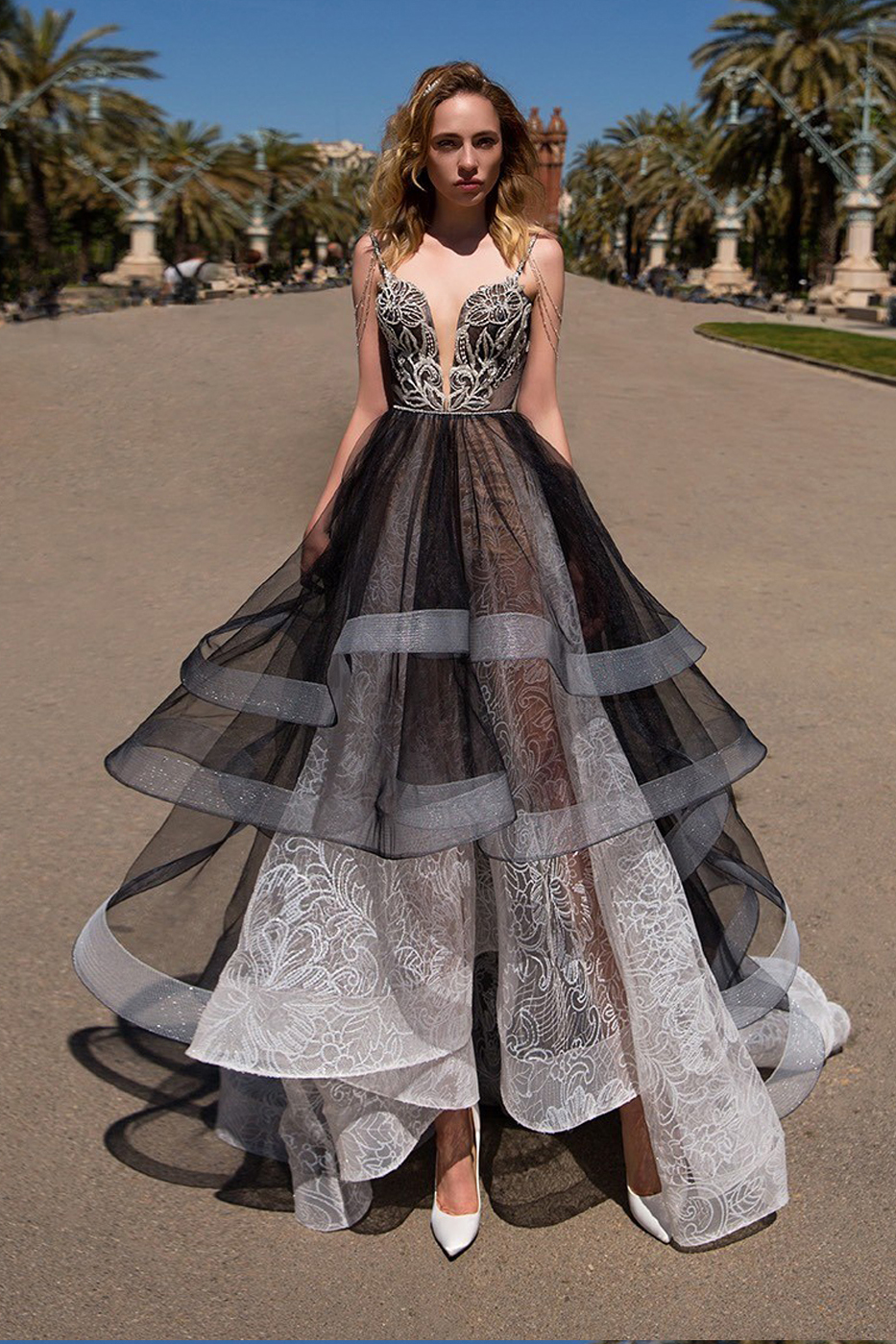 Buy Black and white lace prom dresses pictures trends