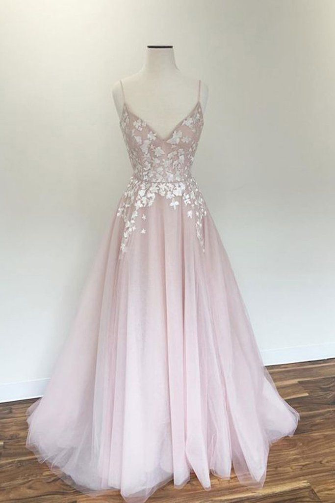 6b93e629de895 Light Pink Prom Gown