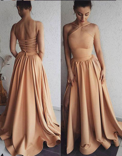 bc9deba9e Unique Prom Dresses,Champagne Prom Gown,Long Prom Dress,Long Evening Dress,
