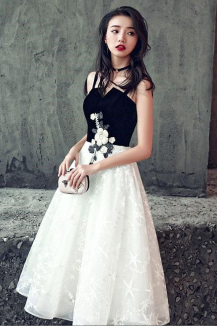 Cute Homecoming Dresses Black And White Homecoming Dresses Short