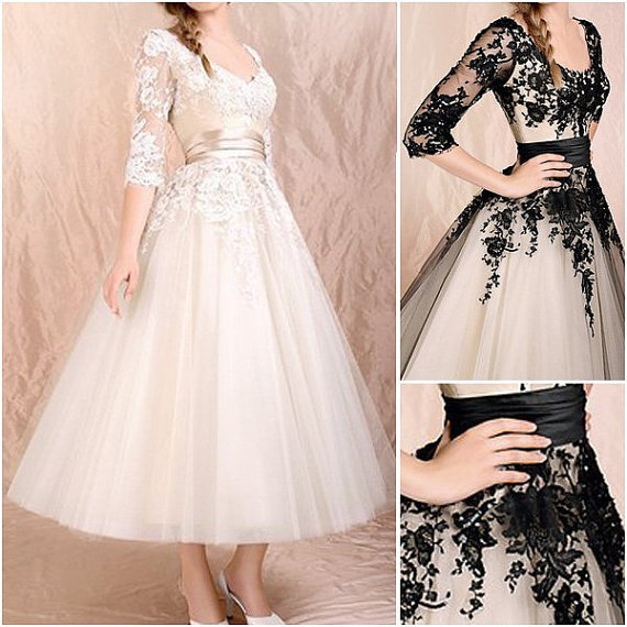 Champagne Lace Dress Mid Length