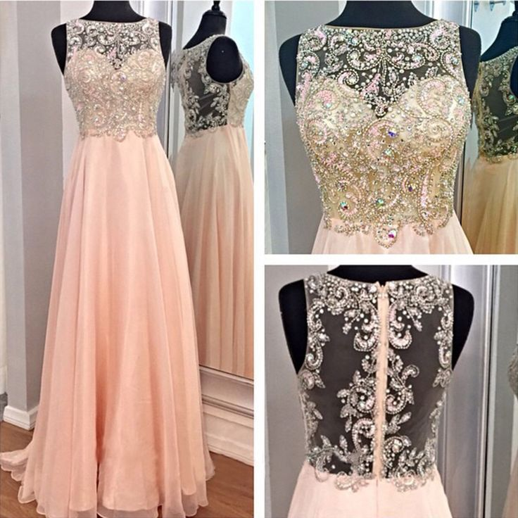 Hot Sales High Neck See Through Back Long Prom Dress d78e2c8e4839