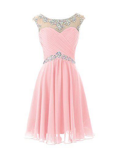 Open Back Pink Tulle Short Homecoming Dresses Prom Dress ...