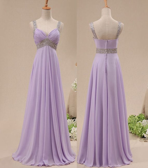 Off The Shoulder Lavender Chiffon Empire Waist Long Prom Dress bfe66503d9ce