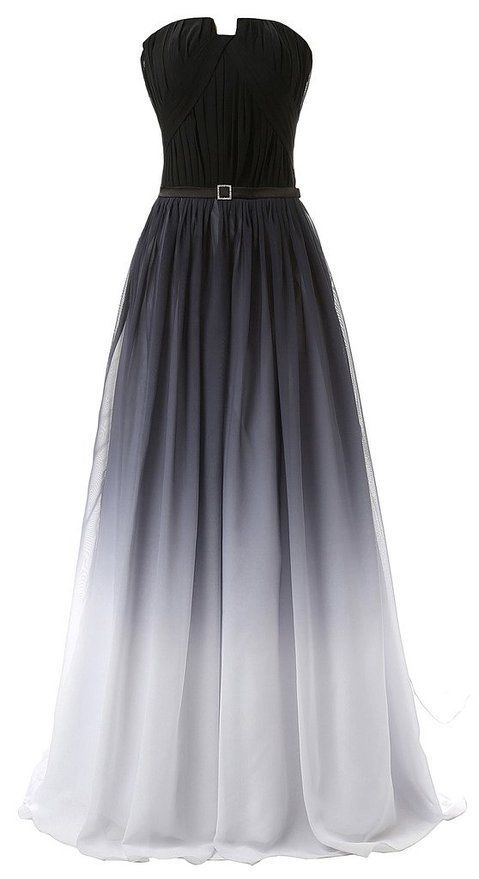 Hot Sales Navy Blue Ombre Prom Dress,Gradient Chiffon Long Prom ...