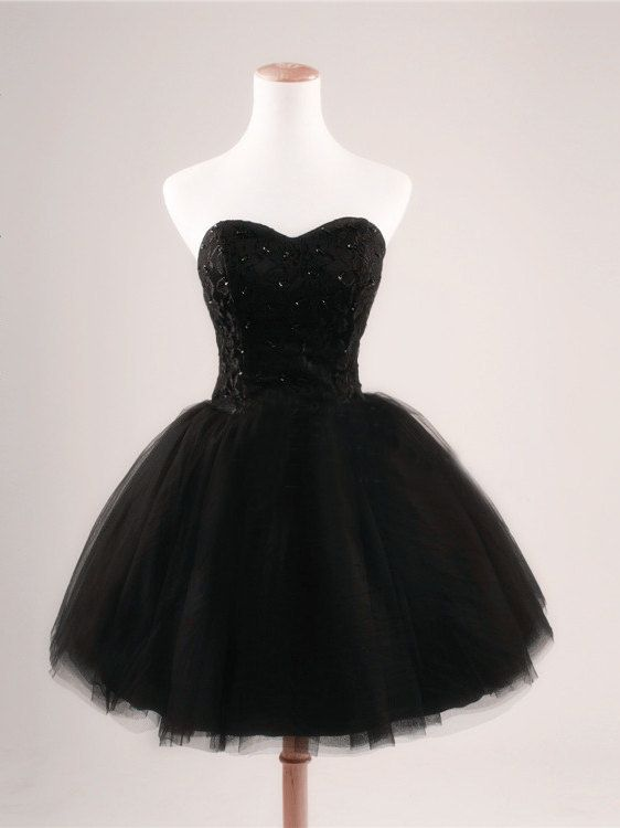 Black Lace Bodice Homecoming Dresses ,Short Homecoming Dresses ...