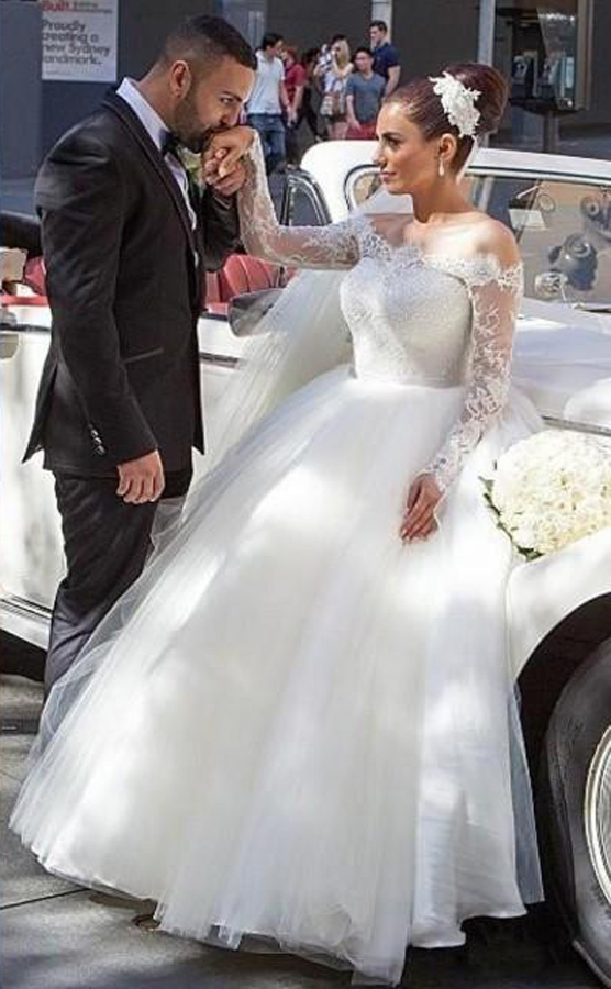 7adc86320de Hot Sales Long Sleeves Ball Gown Wedding Dresses