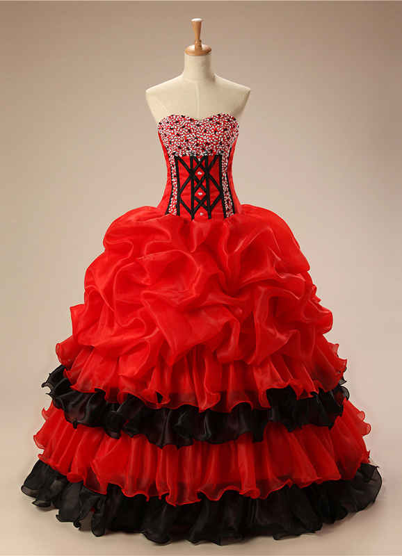 Red Quinceanera Dresses,Sweetheart Quinceanera Dresses,2017 Quinceanera Dresses,Princess Quinceanera Dresses,Beading Quinceanera Dresses,Best Quinceanera Dresses