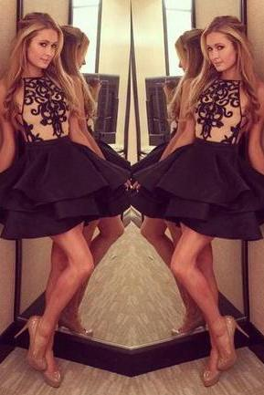 Pretty Homecoming Dresses,Black Homecoming Dresses,Short Homecoming Dress,Cute Homecoming Dress For Girls,Black Cocktail Dresses