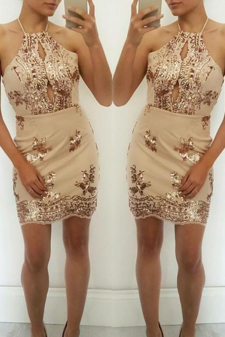 Short Homecoming Dress, Sheath Homecoming Dresses,Sexy Party Dresses with Sequins, Bling Cocktail Dresses,Mini Prom Dresses