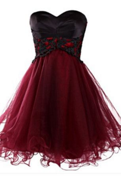 Tulle Homecoming Dresses,A Line Homecoming Dresses,Burgundy Homecoming Dress,Short Cocktail Dresses,Cute Prom Dresses,Black Lace Homecoming Dress