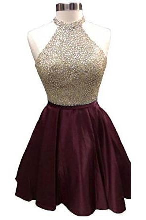 Burgundy Homecoming Dress,Beaded Prom Dresses,Beading Homecoming Dresses,Junior Homecoming Dresses,Girls Cocktail Dresses