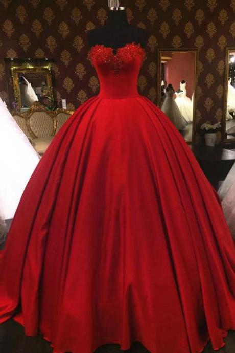 Sweetheart Prom Dresses,Wine Red Prom Dresses,Ball Gown Prom Dresses,Lace Formal Dresses,Appliqués Prom Dress,Red Quinceanera Dress,Princess Quinceanera Dresses