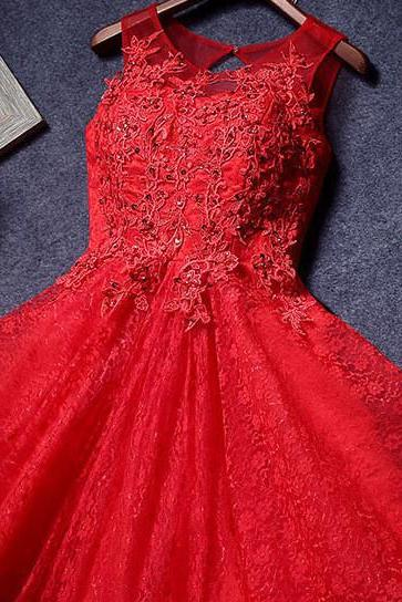Red Homecoming Dresses,Lace Homecoming Dress,A Line Homecoming Dresses,Red Prom Dress,Appliqued Homecoming Dresses,Short Party Dresses
