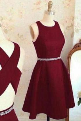 Lovely Homecoming Dresses,Cute Prom Dress,Short Prom Dresses,Burgundy Homecoming Dress,Prom Party Dress