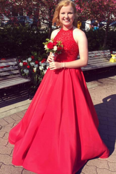 Red Prom Dress,Ball Gown Prom Dress,Beading Prom Gown,Bodice Prom Gown,Princess Prom Dresses,New Fashion Evening Gown,Red Party Dress For Teens DS183