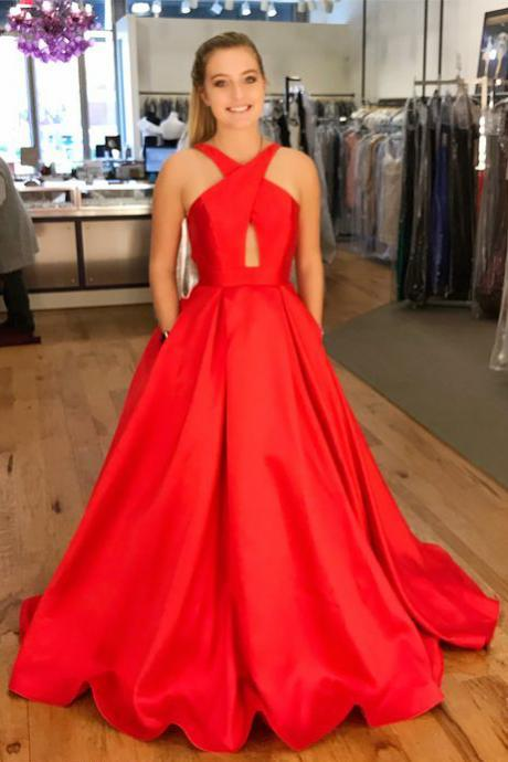 Red Ball Gown for Formal Events - Luulla