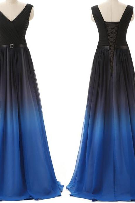 5b7b5c565bf Gorgeous Gradient Prom Dress Luulla. Gorgeous Gradient Prom Dress Luulla. Ball  Gown Sweetheart Royal Blue Tulle ...