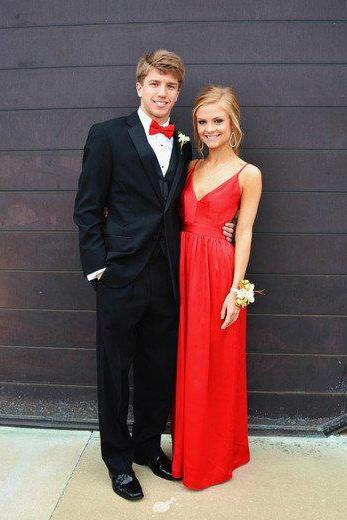 Red Prom Dresses, 2017 Red Sexy Prom Dress, Backless Prom Dress, Charming Prom Dress, Evening Party Dress, Spaghetti Straps Prom Dress, Deep V-neck Prom Dresses, Prom Dress PD023