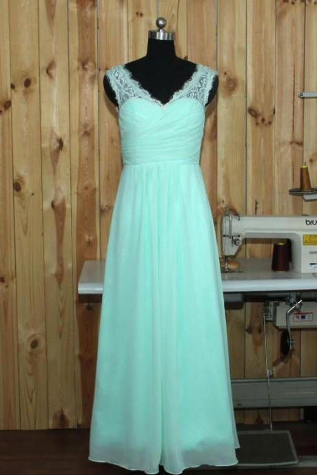Mint Green Bridesmaid Dress, Junior Bridesmaid Dresses,Long Bridesmaid Dress,A Line Bridesmaid Dresses,Chiffon Bridesmaid Dress,Bridesmaid Dress