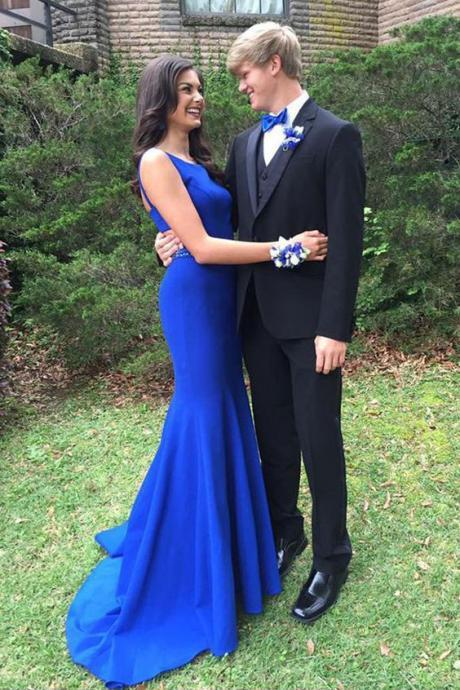 Royal Blue Prom Dresses,Mermaid Prom Dress,Backless Prom Dress,Fashion Prom Dress,Sexy Party Dress,Long Evening Dress,Simple Prom Dresses,Mermaid Evening Dresses
