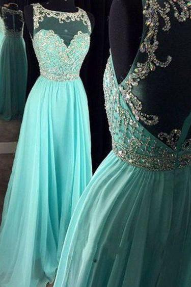Beautiful Prom Dresses,Long Prom Dress,Chiffon Prom Dresses,Pretty High Low Prom Gowns,Zipper Back Evening Dresses,Beading Prom Dress,Prom Dress
