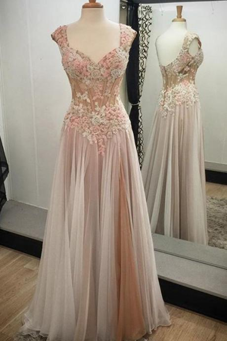 Noble A-line Prom Dresses, Tulle Prom Dress with Appliques Lace Prom Dress, Long Prom Dresses, Pretty Prom Dresses,Prom Dresses 2017,Long Formal Dresses,Prom Dress