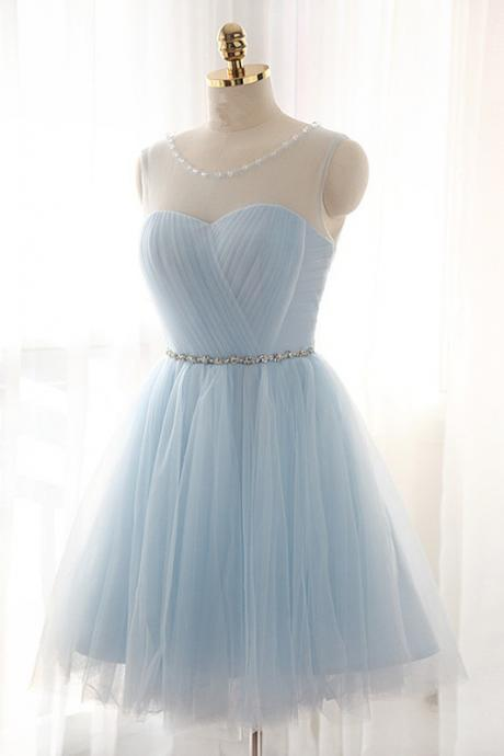 Tulle Prom Dresses,Short Prom Dresses,Charming Homecoming Dresses,Homecoming Dresses,Short Homecoming Dress,Light Blue Homecoming Dresses,Cute Homecoming Dresses
