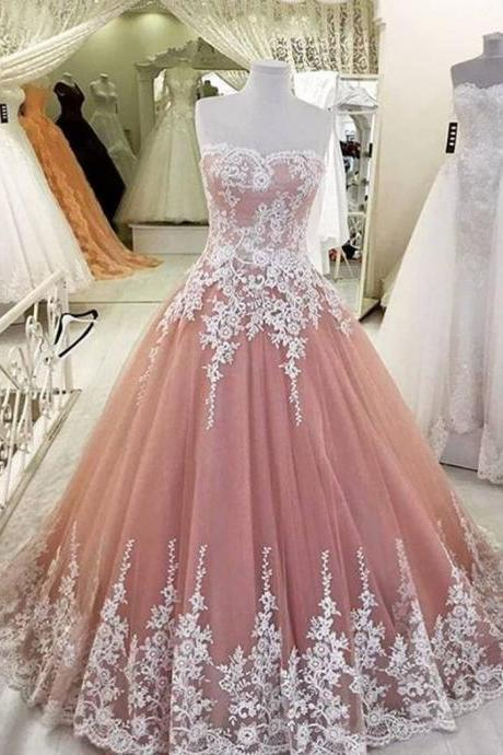 Ball Gown Prom Dress, Elegant Prom Dresses,A-Line Prom Dresses,Applique Prom Dress,Lace Prom Dresses,Tulle Prom Dresses,High Quality Graduation Dresses,Prom Dress, Long Formal Dress,quinceanera dresses
