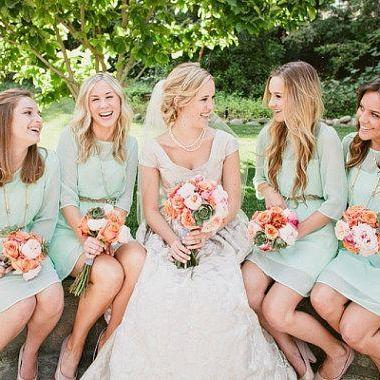 Simple Long Sleeves High Neck Knee Length Bridesmaid Dresses,Mint Chiffon Cheap Short Bridesmaid Dress,Bridesmaid Gowns,Mother Of The Bride Dress,Short Prom Dress