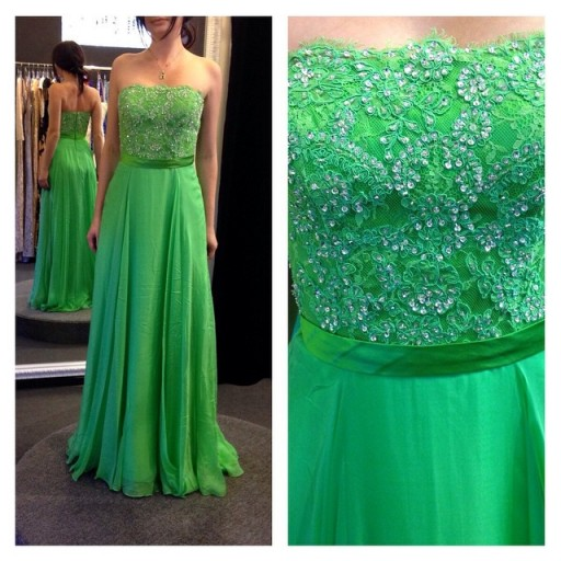 A Line Straples Prom Dresses,Cheap Lace Prom Dress,Green Long Prom Dresses,Sexy Prom Gowns,Custom Made Formal Women Dress,Graduation Dresses