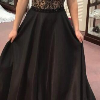 Black Prom Dresses,Beading Prom Gown,Long Evening Dress,A Line Prom Dresses,Sexy Formal Dresses,Black Evening Dresses,Prom Dress